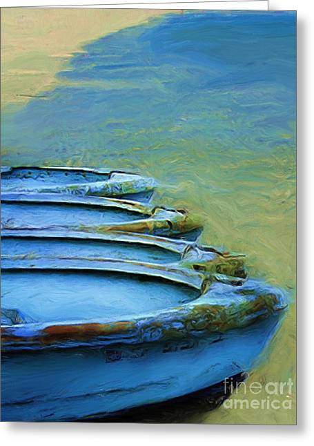 Rowboats Greeting Card by Tom Griffithe