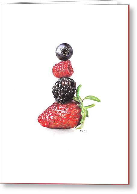 Summer Berry Tower Greeting Card