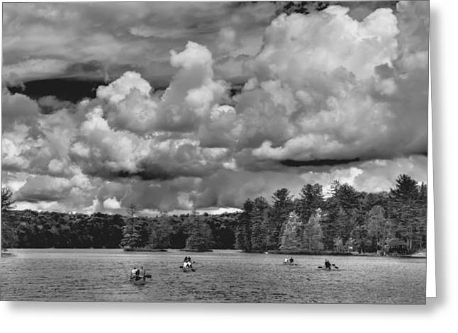Rowing On White Lake 2 Greeting Card by David Patterson