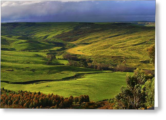 Rowsley Valley Greeting Card by David Hibberd