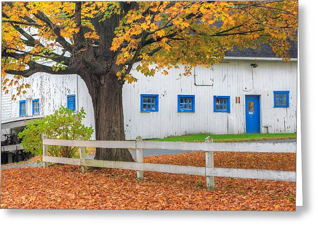 Roxbury Connecticut Barn Square Greeting Card by Bill Wakeley