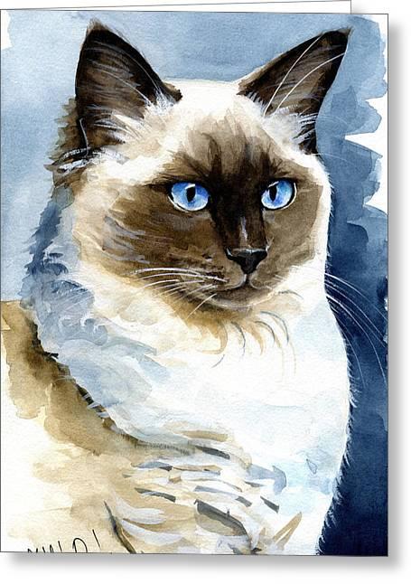 Roxy - Ragdoll Cat Portrait Greeting Card