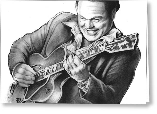 Roy Clark Greeting Card by Greg Joens