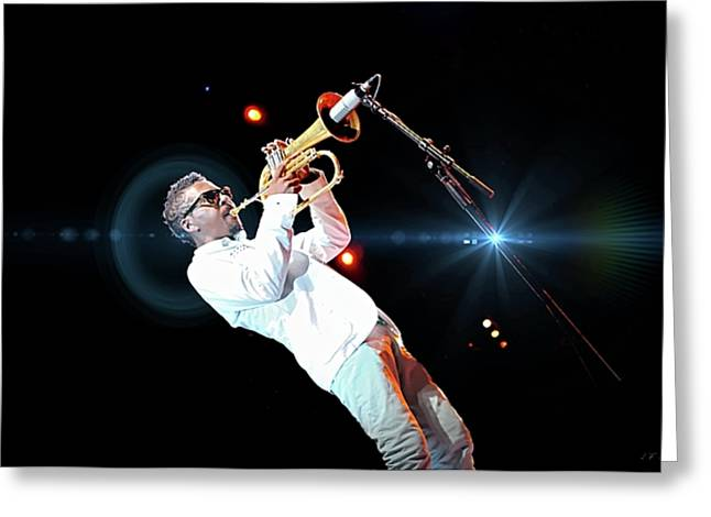Roy Hargrove, Lens Flare  Greeting Card