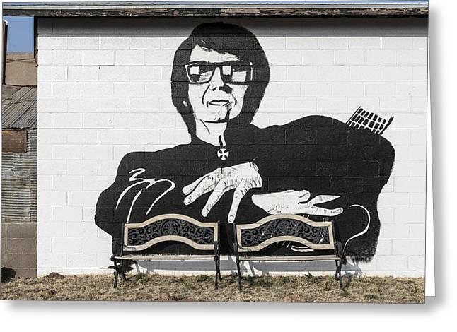 Roy Orbison Mural In Wink Greeting Card