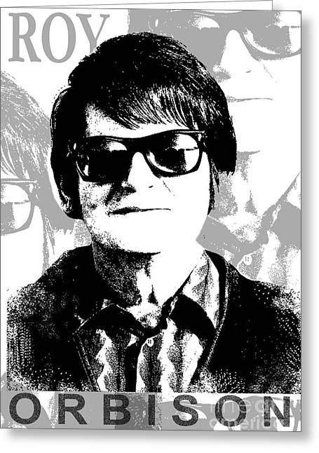Roy Orbison Greeting Card by Patrick Dablow