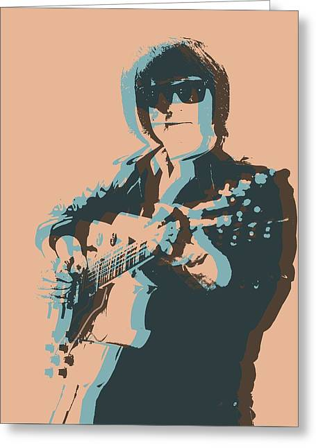 Roy Orbison Pop Greeting Card by Dan Sproul