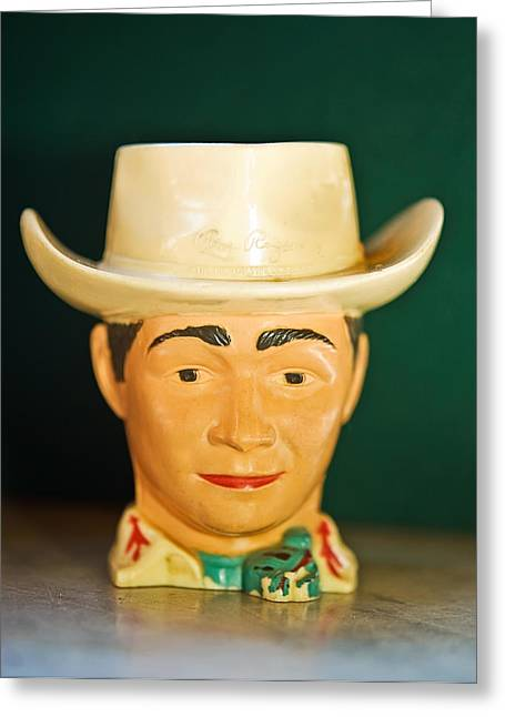 Susan Leggett Greeting Cards - Roy Rogers Cup Greeting Card by Susan Leggett