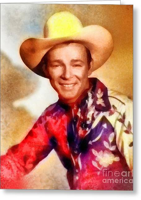Roy Rogers, Vintage Western Legend Greeting Card by Frank Falcon