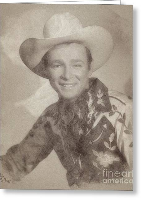 Roy Rogers, Western Star And Singer Greeting Card