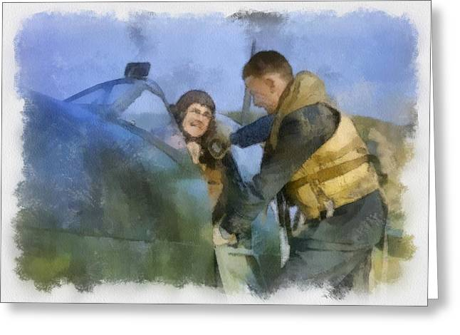Royal Air Force Fighter Station In Britain Supermarine Spitfire Greeting Card