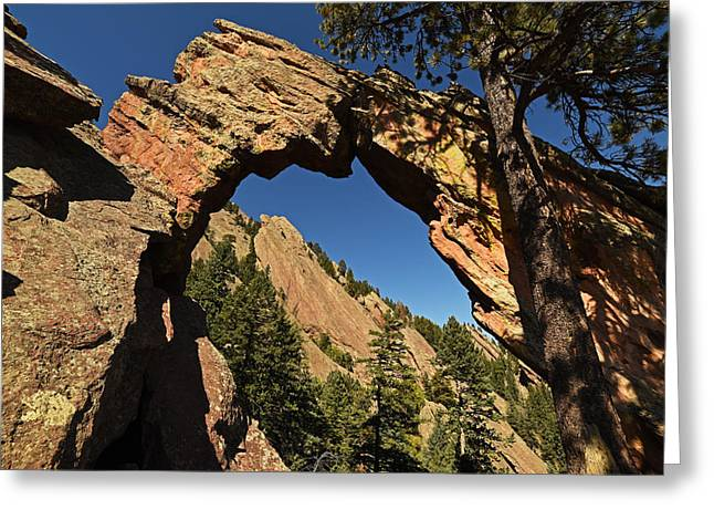 Royal Arch Trail Arch Boulder Colorado Greeting Card