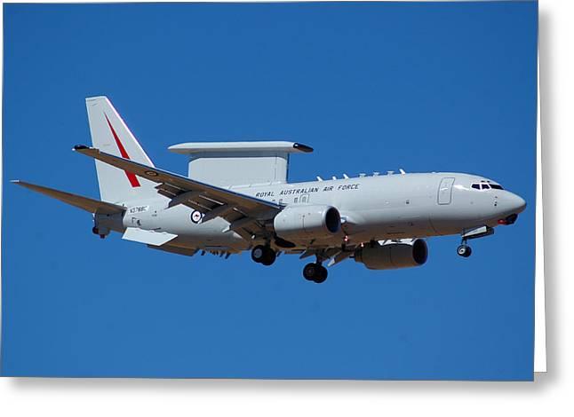 Royal Australian Air Force Boeing 737 Wedgetail N378bc Greeting Card