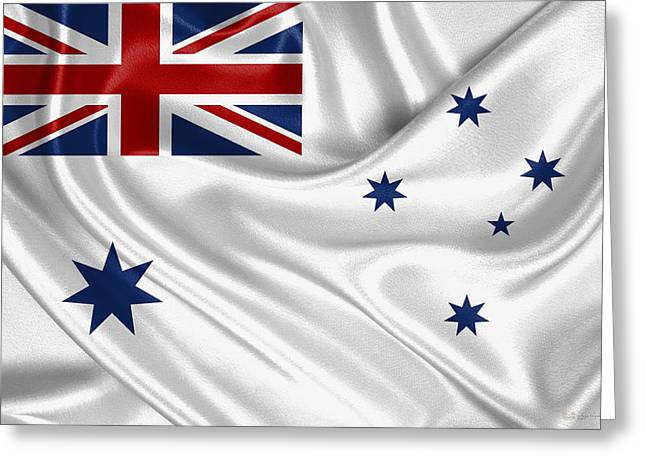 Royal Australian Navy -  R A N  Ensign Greeting Card by Serge Averbukh