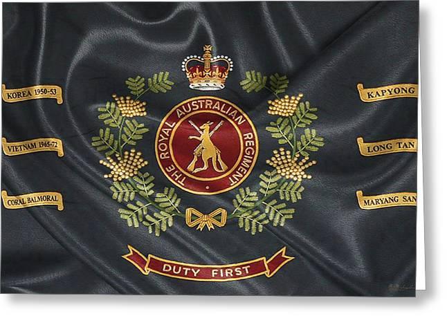 Royal Australian Regiment   -  R A R  Regimental Colours Greeting Card by Serge Averbukh