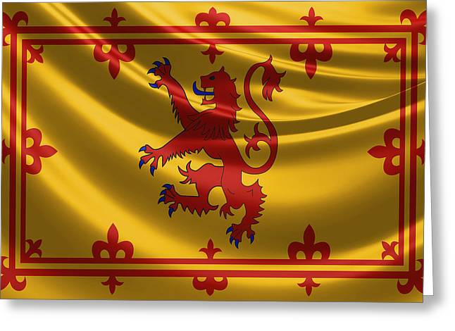 Royal Banner Of The Royal Arms Of Scotland Greeting Card