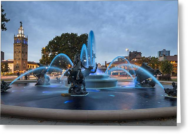 Royal Blue Fountain Greeting Card