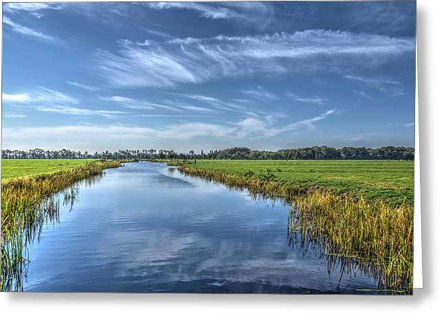 Royal Canal And Grasslands Greeting Card