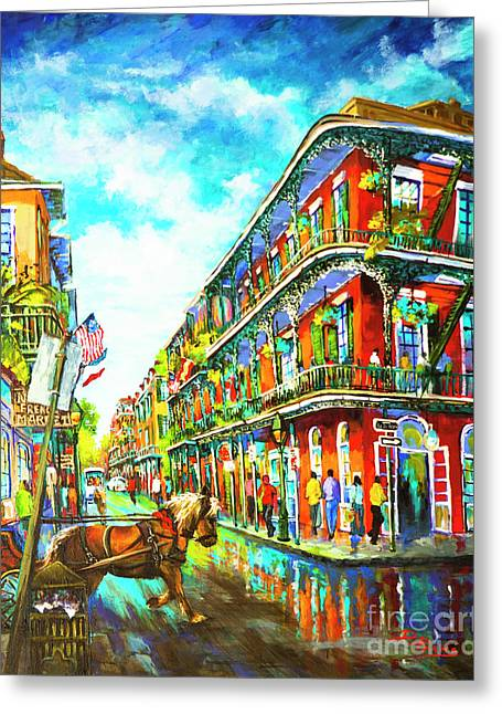 Royal Carriage - New Orleans French Quarter Greeting Card