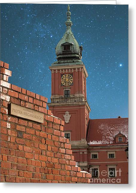 Royal Castle And City Wall Greeting Card by Juli Scalzi
