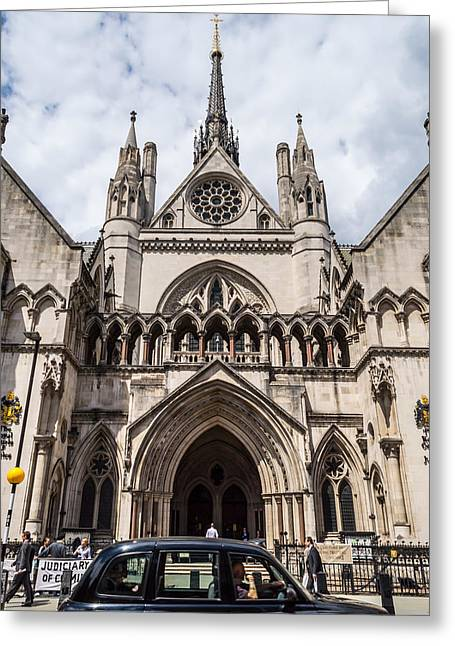 Royal Courts Of Justice In London Greeting Card