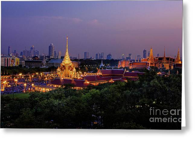 Royal Cremation Ceremony Greeting Card by Buchachon Petthanya