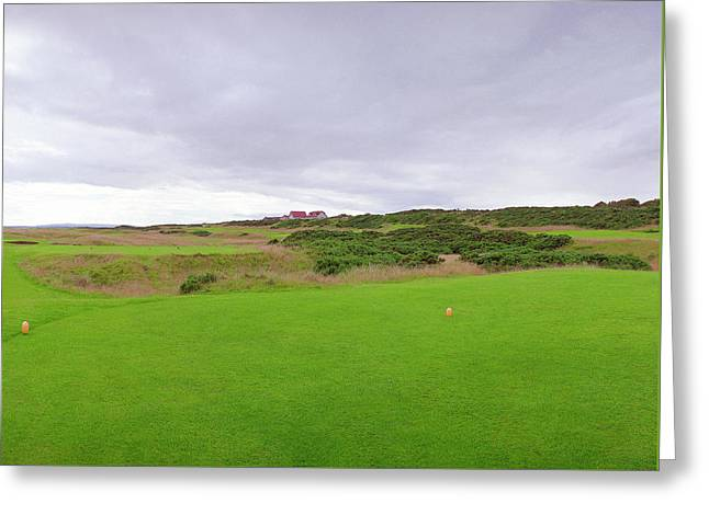 Royal Dornoch 6th Tee Greeting Card by Jan W Faul