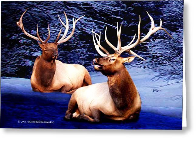 Royal Elk Greeting Card by Dianne Roberson