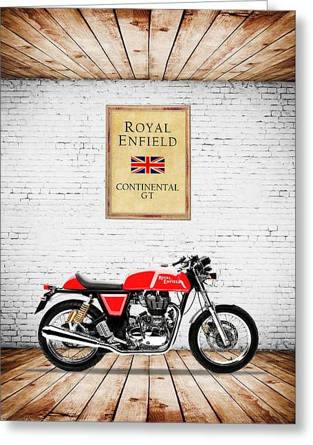 Royal Enfield Continental Gt Greeting Card