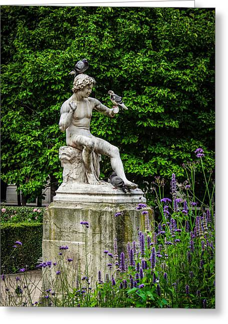 Royal Garden Statue Greeting Card by Alexandra Adams