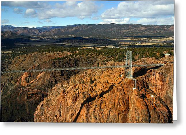 Royal Gorge Greeting Card by Anthony Jones