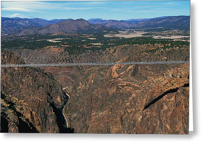 Royal Gorge Bridge Arkansas River Co Greeting Card by Panoramic Images