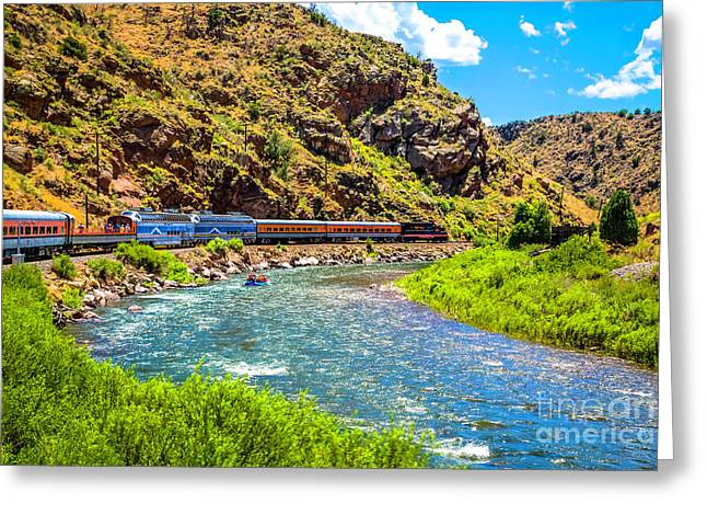Royal Gorge Railroad Greeting Card by Jon Burch Photography
