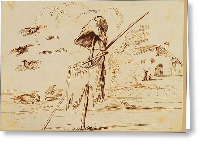 Royal Guercino Scarecrow Greeting Card by MotionAge Designs