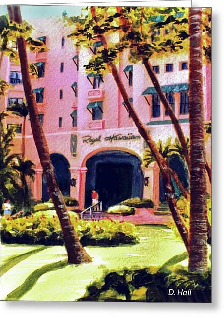 Royal Hawaiian Hotel On Waikiki Beach #131 Greeting Card by Donald k Hall