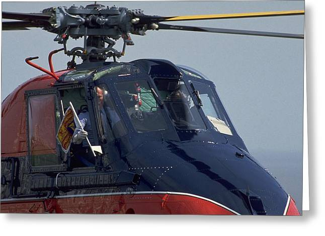 Royal Helicopter Greeting Card