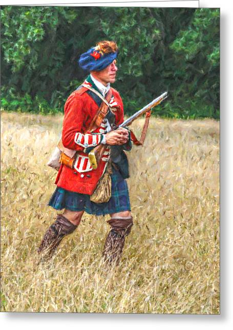 Royal Highlanders 77th Regiment Of Foot  Greeting Card by Randy Steele