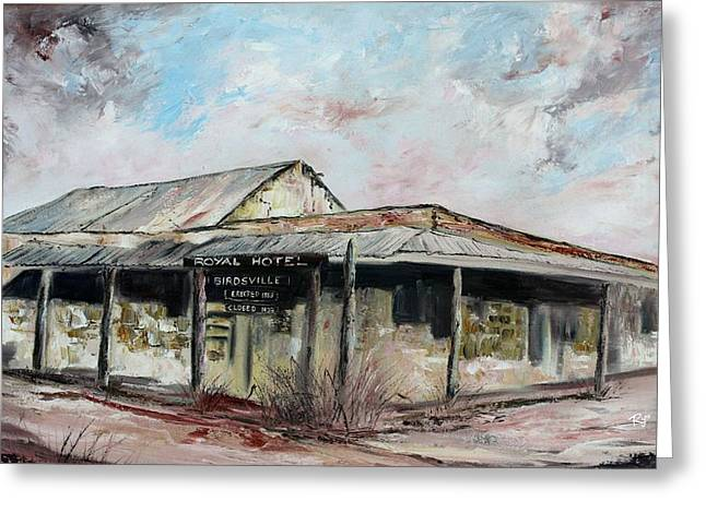 Royal Hotel, Birdsville Greeting Card