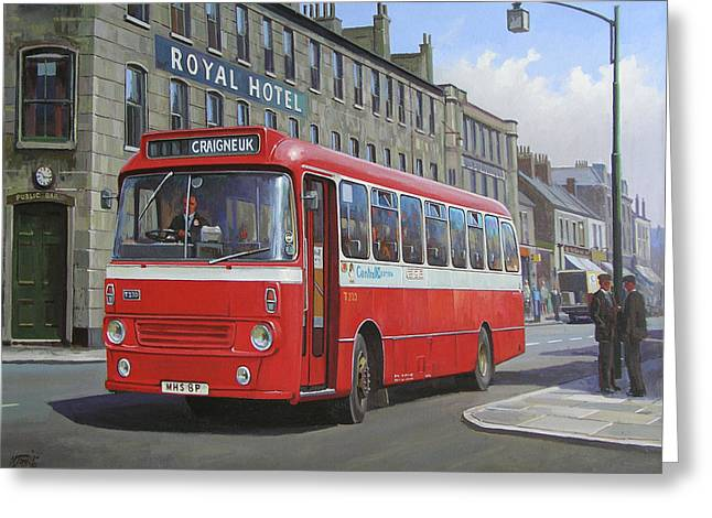 Greeting Card featuring the painting Royal Hotel by Mike Jeffries