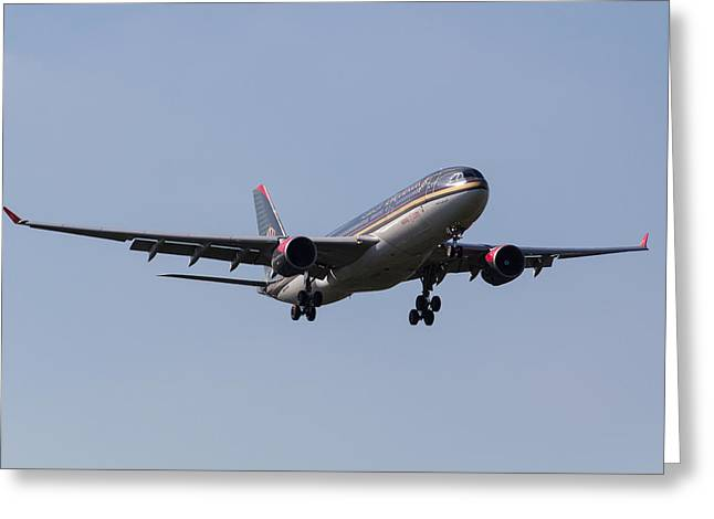 Royal Jordanian Airlines Airbus A330 Greeting Card by David Pyatt