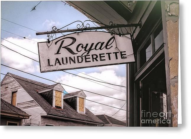 Royal Launderette- Nola Greeting Card