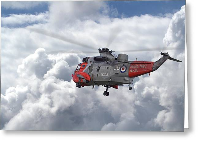 Greeting Card featuring the photograph Royal Navy - Sea King by Pat Speirs