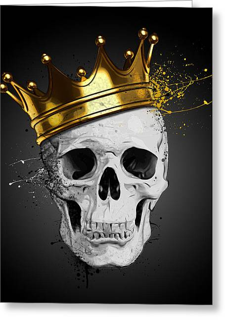 Royal Skull Greeting Card