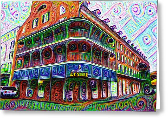 Royal Sonesta Desire - New Orleans Greeting Card by Bill Cannon