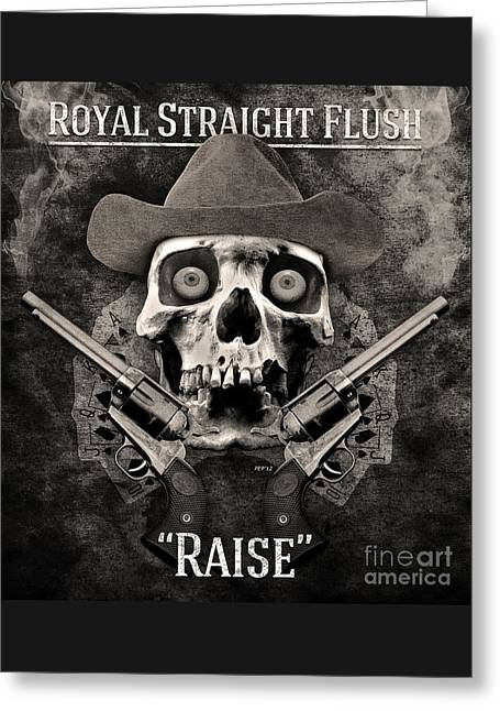 Greeting Card featuring the digital art Royal Straight Flush by Phil Perkins