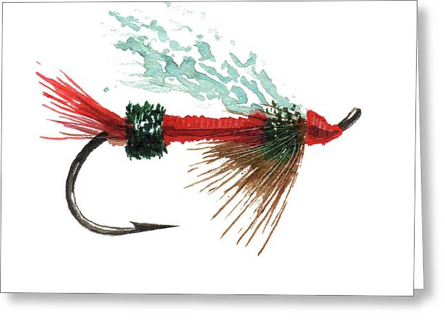 Royal Trude Salmon Fly Greeting Card by Sean Seal