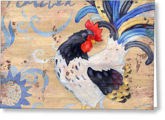 Royale Rooster Iv Greeting Card by Paul Brent