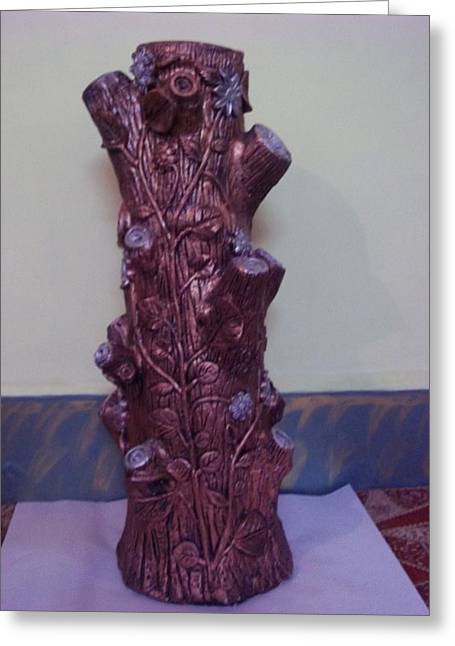 Royale Tree Greeting Card by Hakimuddin Pathan