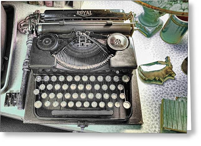 Interior Still Life Greeting Cards - Royally Yours Greeting Card by Jan Amiss Photography