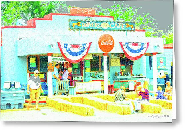 Royer's Cafe Greeting Card by Carolyn Pepper